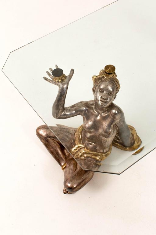 Hollywood Regency Blackamoor Coffee Table, 1970s 4