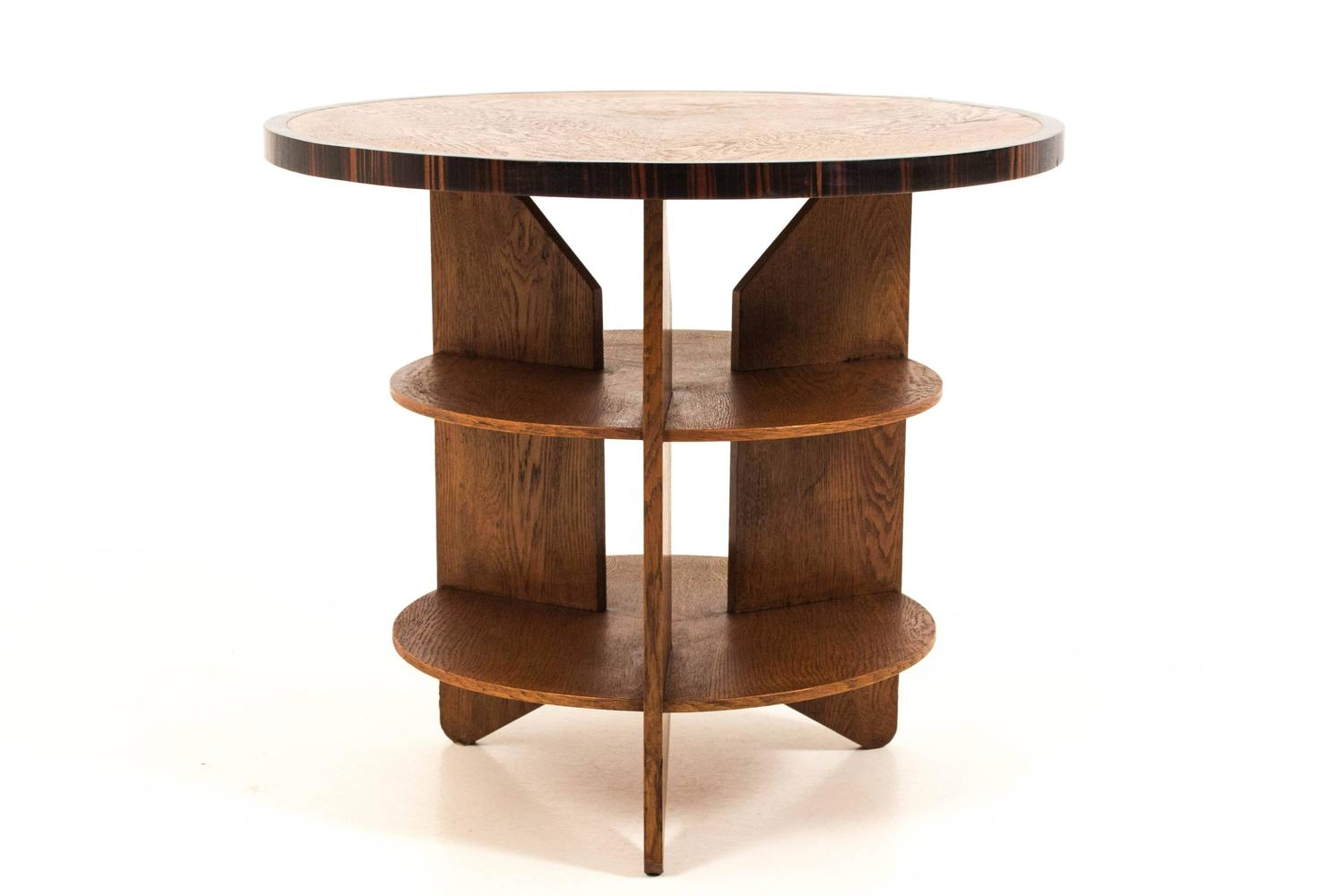 Funky art deco haagse school coffee table by pel izeren for genneper molen for sale at 1stdibs Funky coffee table