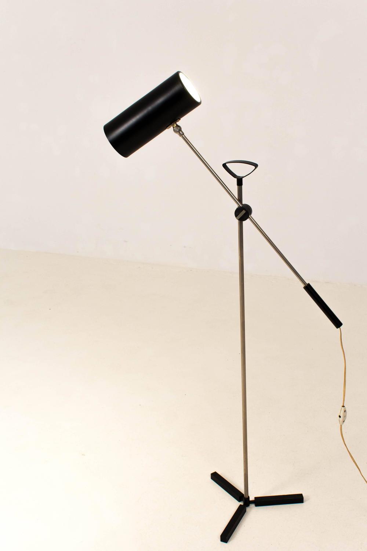 Rare mid century modern floor lamp by j j m hoogervorst for Modern floor lamp on sale