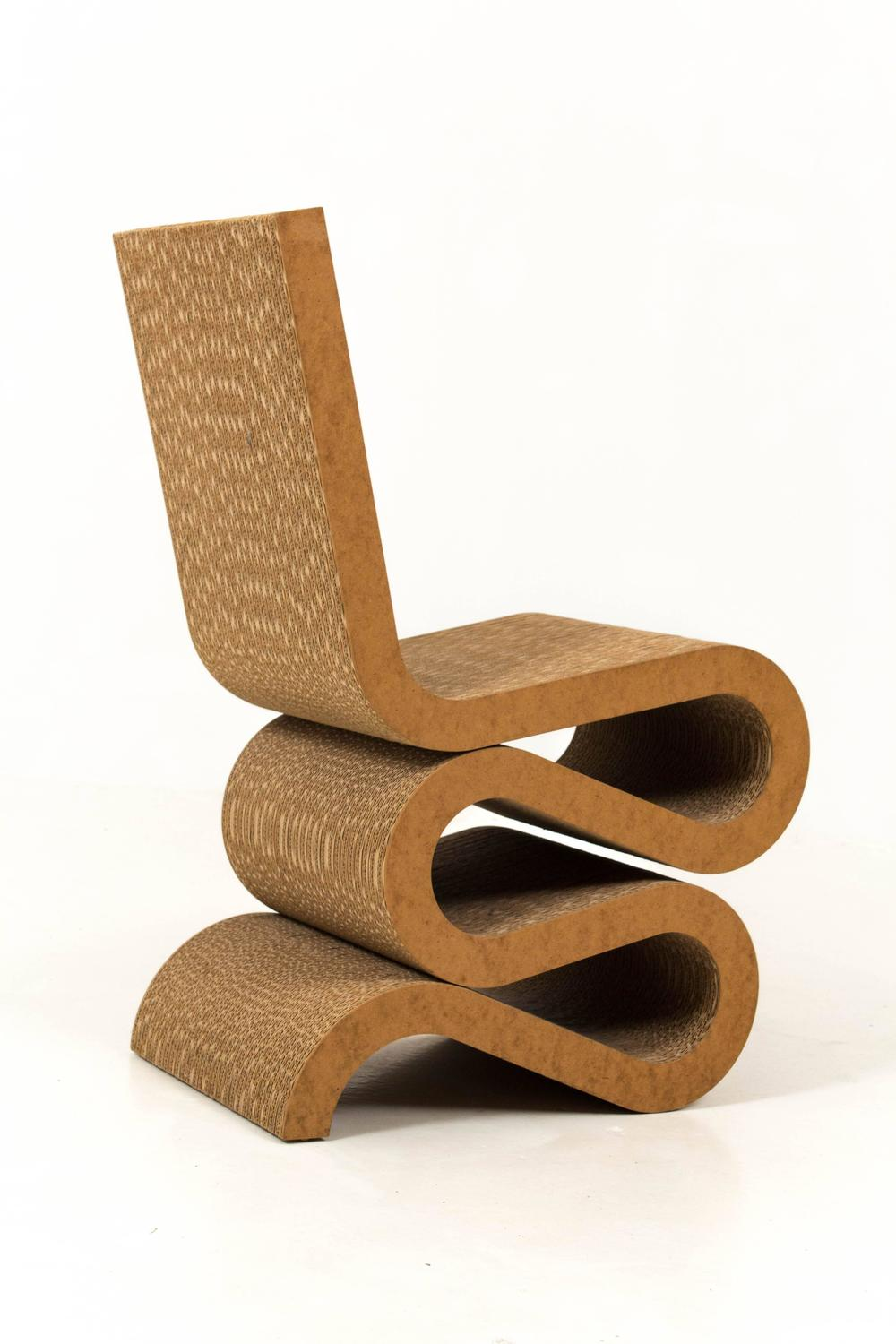wiggle side chair by frank gehry 1972 for sale at 1stdibs. Black Bedroom Furniture Sets. Home Design Ideas
