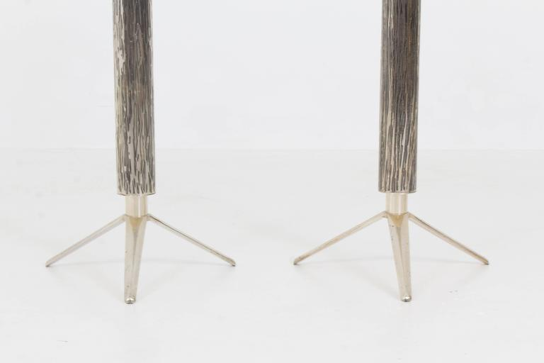 Fabulous Pair of French, Mid-Century Modern Candelabras or Candlesticks, 1970s In Good Condition For Sale In Amsterdam, NL