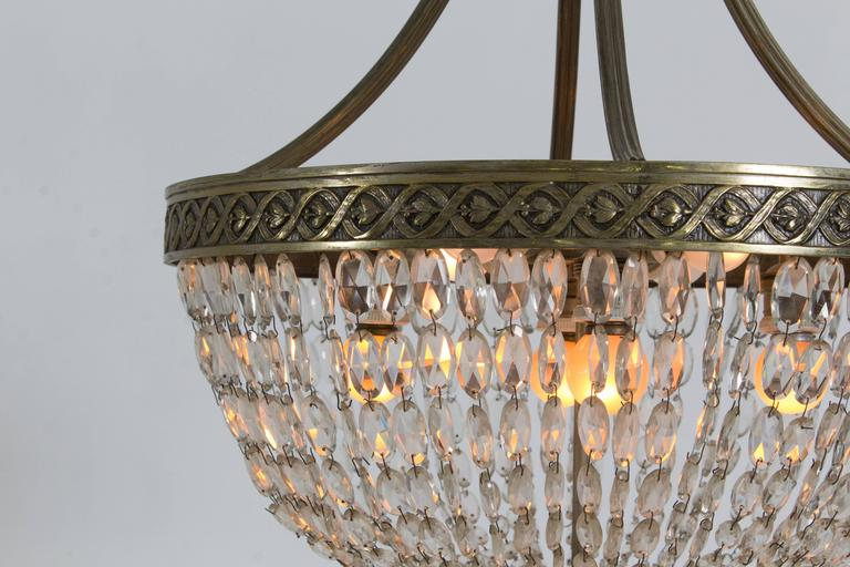 Stunning French Art Deco Crystal Chandelier, 1930s 6