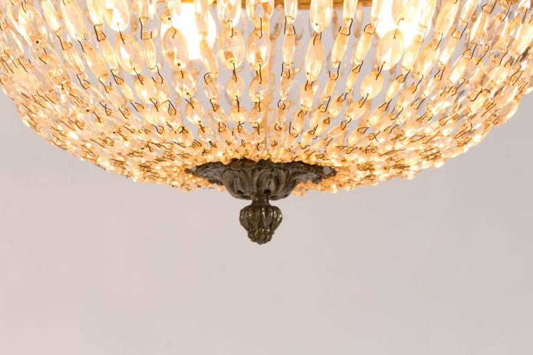 Stunning French Art Deco Crystal Chandelier, 1930s 7