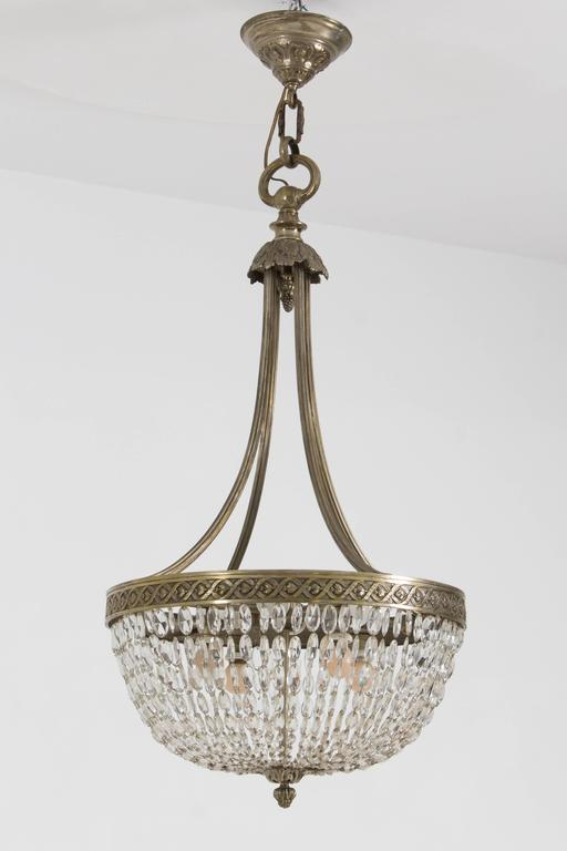 Stunning French Art Deco Crystal Chandelier, 1930s 8