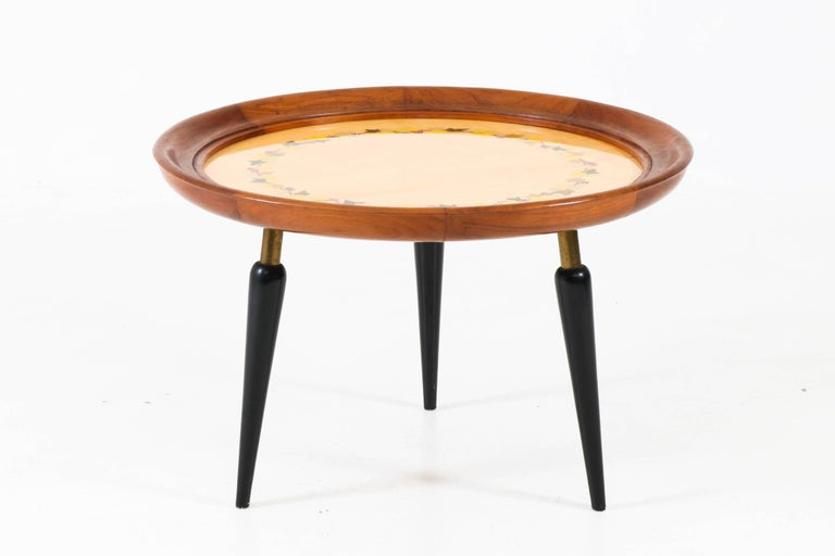 Italian Mid Century Modern Fruitwood Coffee Table With Inlay 1950s For Sale At 1stdibs