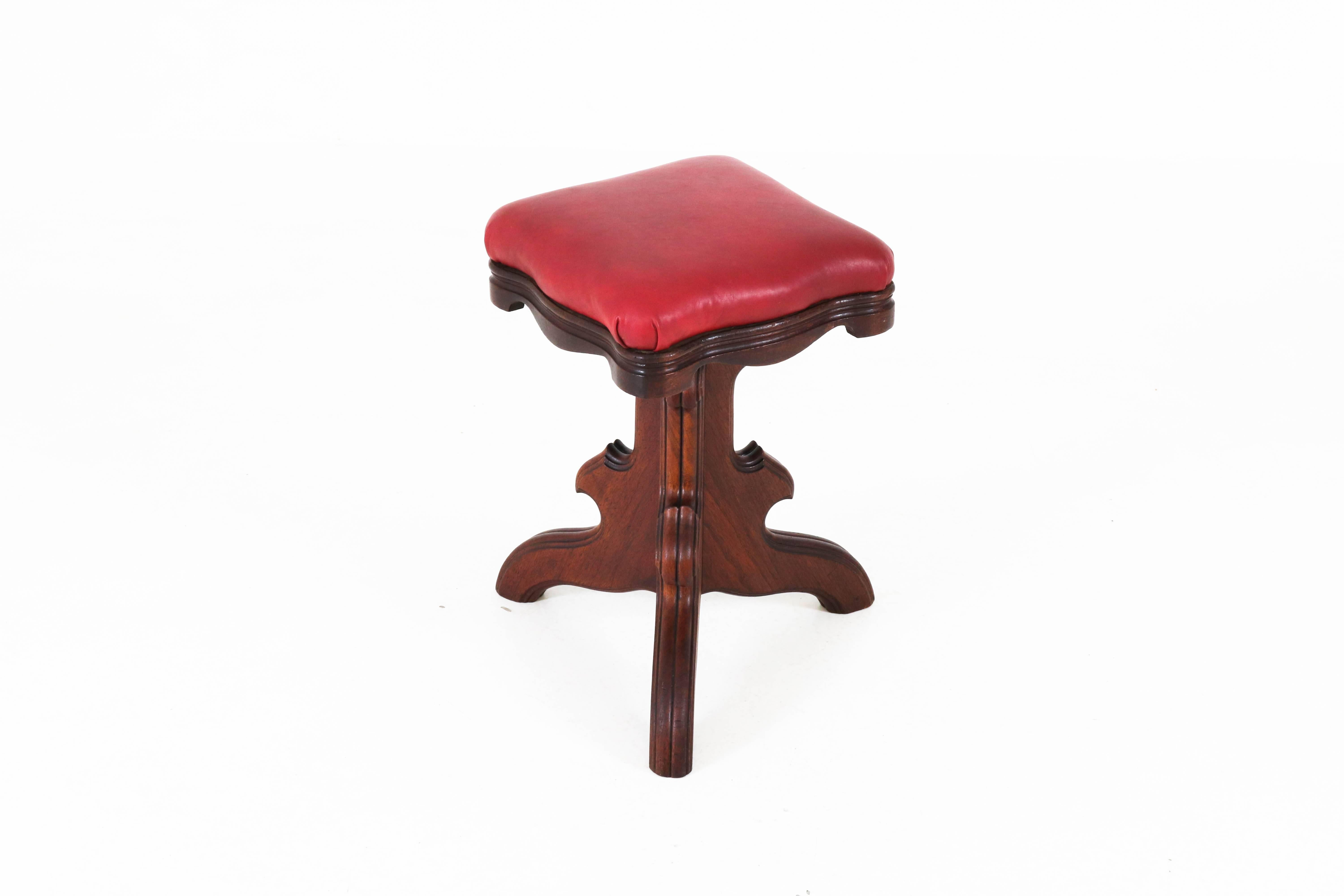 Antiques Edwardian (1901-1910) Striking Art Nouveau Piano Stool With Adjustable Height Buy One Get One Free