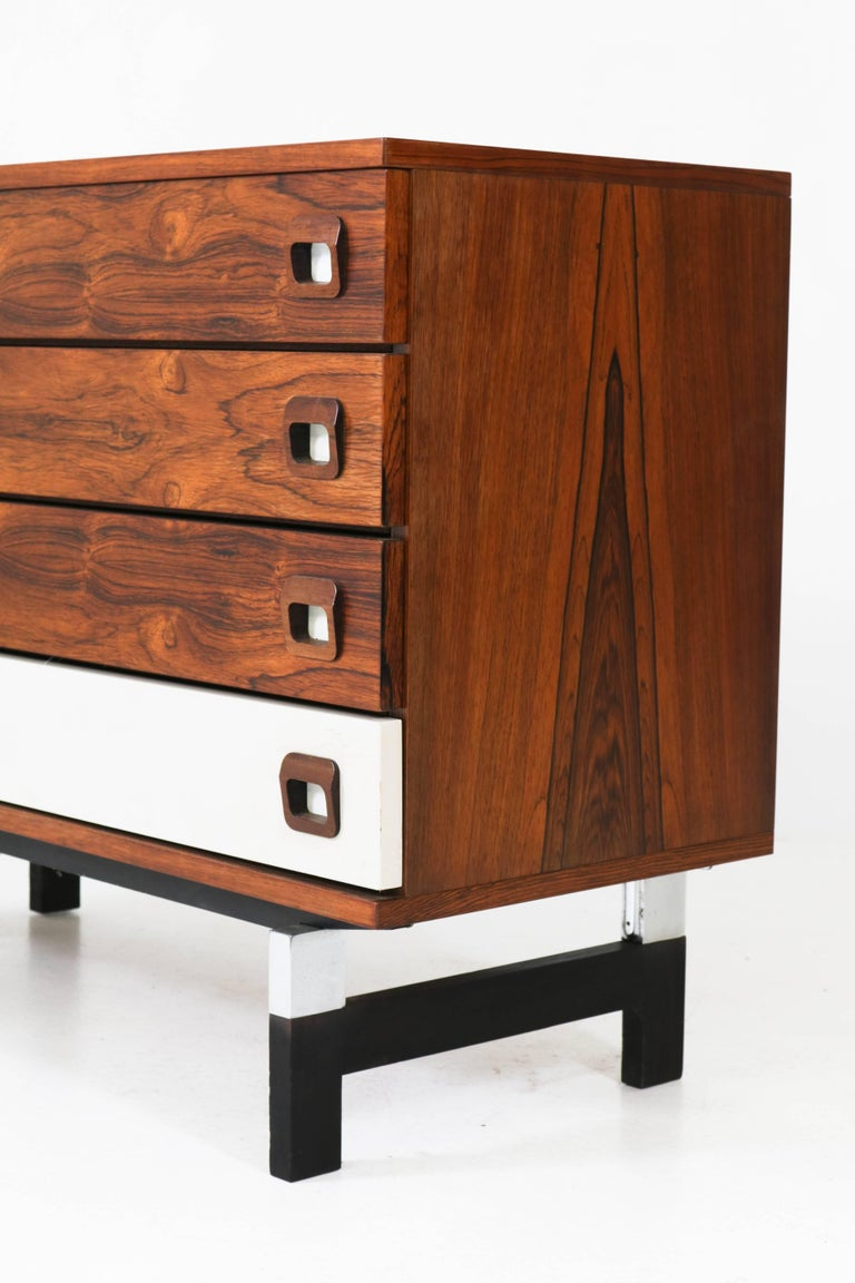 rosewood mid century modern commode or chest of drawers. Black Bedroom Furniture Sets. Home Design Ideas