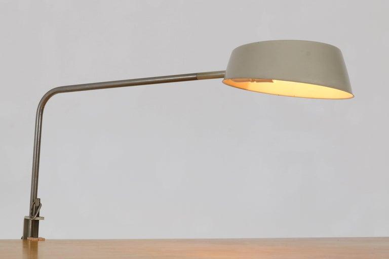 Metal Mid-Century Modern Desk Lamp by ASEA, Sweden, 1960s For Sale