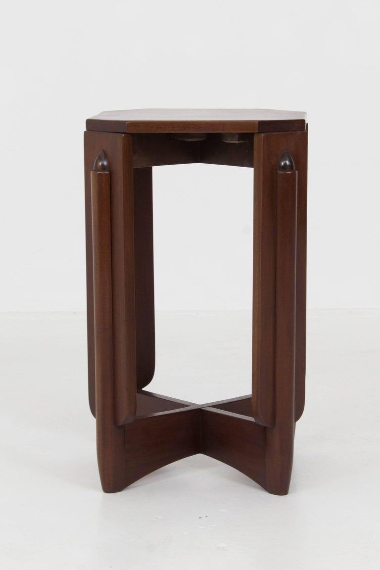Mahogany Art Deco Amsterdam School Pedestal Table by Hildo Krop, 1920s In Good Condition For Sale In Amsterdam, NL