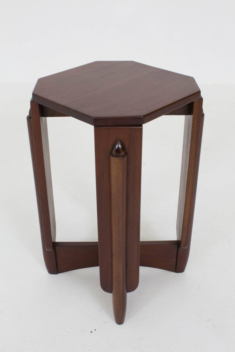 Mahogany Art Deco Amsterdam School Pedestal Table by Hildo Krop, 1920s For Sale 1
