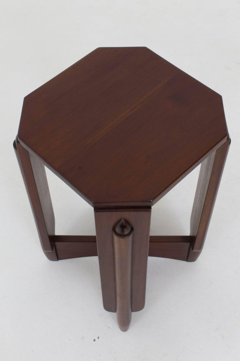 Mahogany Art Deco Amsterdam School Pedestal Table by Hildo Krop, 1920s For Sale 2