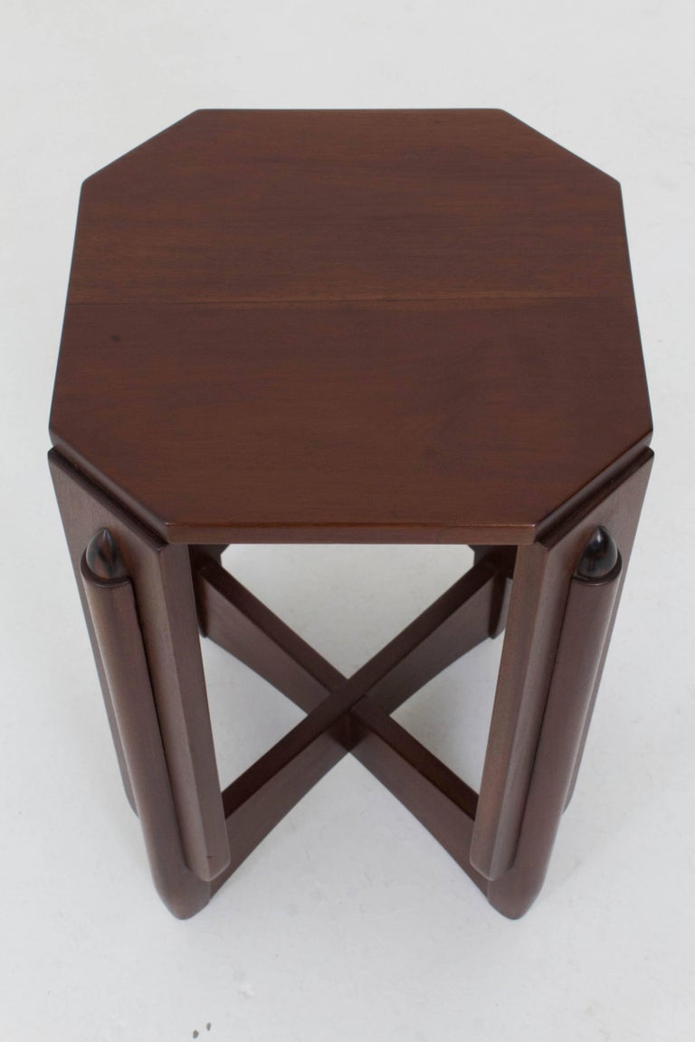 Mahogany Art Deco Amsterdam School Pedestal Table by Hildo Krop, 1920s For Sale 5
