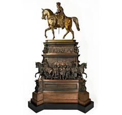 Very Impressive c. 1860 model of the Friedrich II Equestrian Monument, Berlin