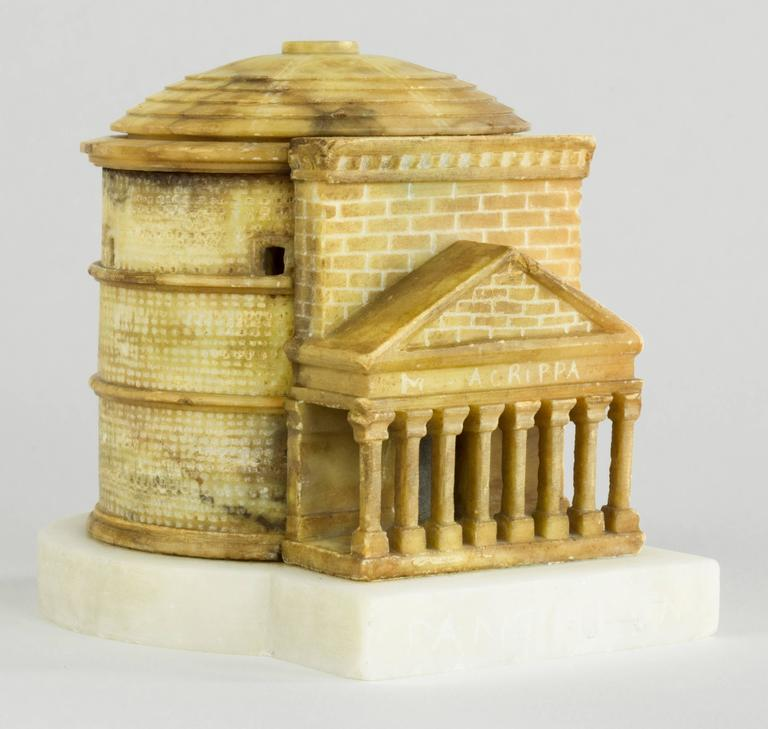 Colorful Grand Tour Architectural Model Of The Pantheon
