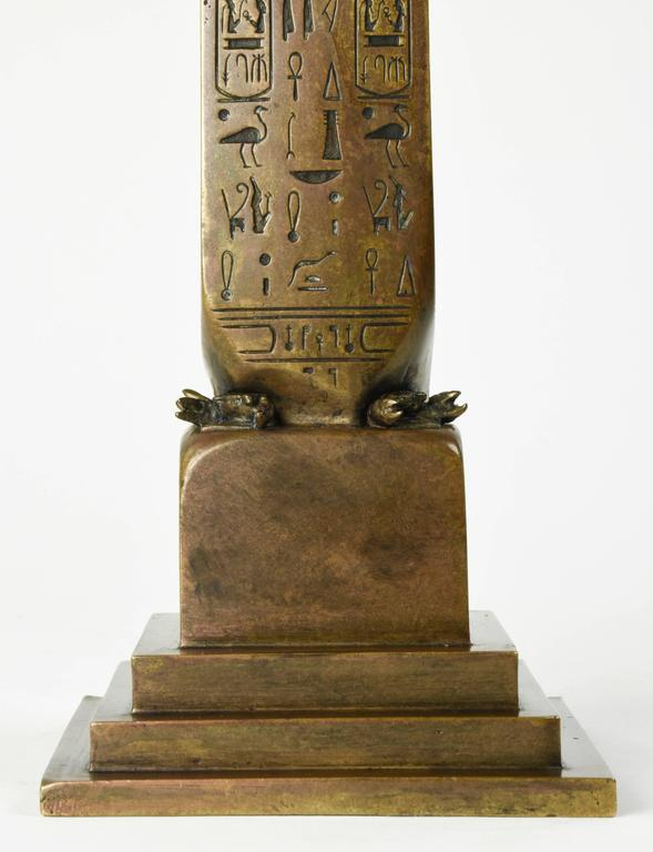 American Tiffany & Co. 1881 Bronze Architectural Model of Cleopatra's Needle Obelisk, NY For Sale