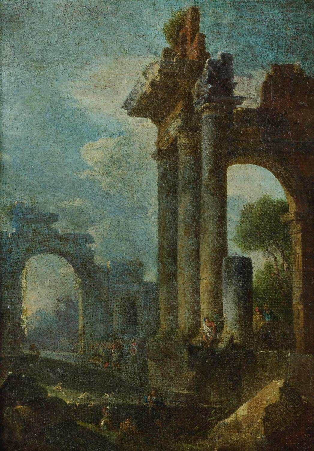 Marvelous photograph of 18th C. Italian Grand Tour Architectural Ruins Painting at 1stdibs with #5E4C27 color and 1047x1500 pixels
