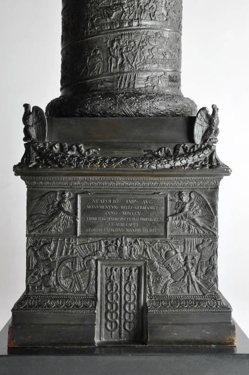 Grand Tour Very, very impressive c. 1835 bronze model of the Vendome Column, Paris For Sale