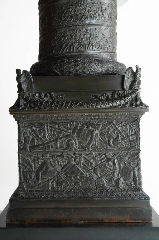 French Very, very impressive c. 1835 bronze model of the Vendome Column, Paris For Sale