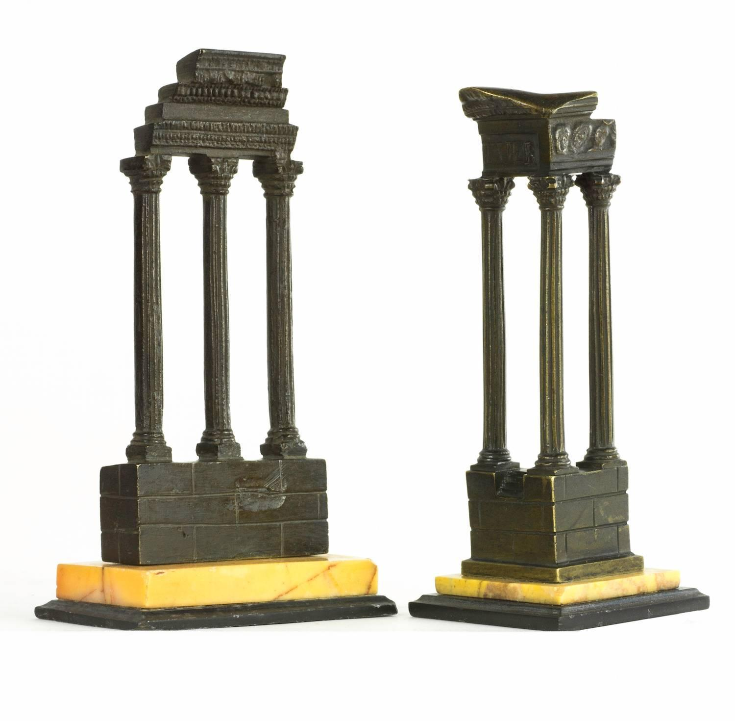 Set Of Four Grand Tour Architectural Models Of Roman Ruins