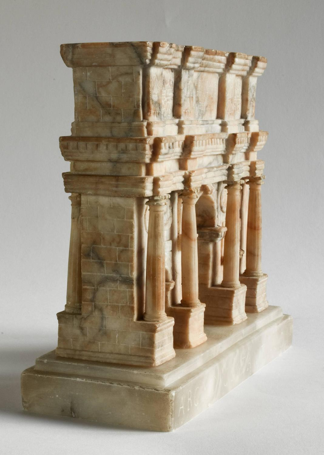 Impressive 19th Century Grand Tour Alabaster Model Of Rome
