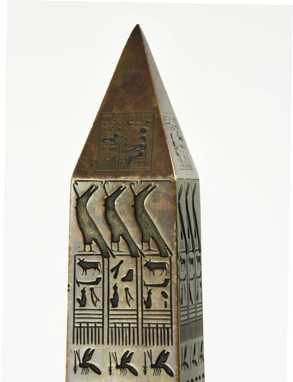Tiffany & Co. 1881 Bronze Architectural Model of Cleopatra's Needle Obelisk, NY In Excellent Condition For Sale In Lafayette, CA