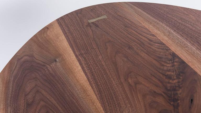 Bowen Dining Table by Uhuru Design, solid walnut top, blackened steel base 3