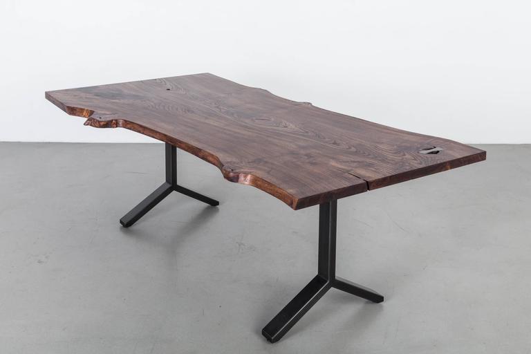 Elm Slab Dining Table by Uhuru Design 2