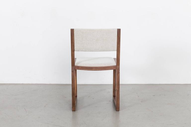 American Balbo Dining Chair by Uhuru Design, Black Walnut with Upholstered Seat and Back For Sale
