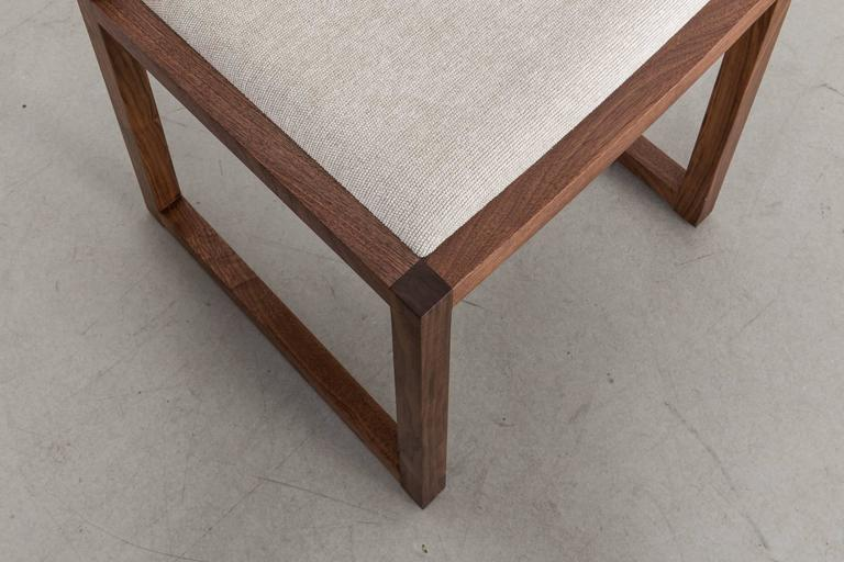 Ash Balbo Dining Chair by Uhuru Design, Black Walnut with Upholstered Seat and Back For Sale