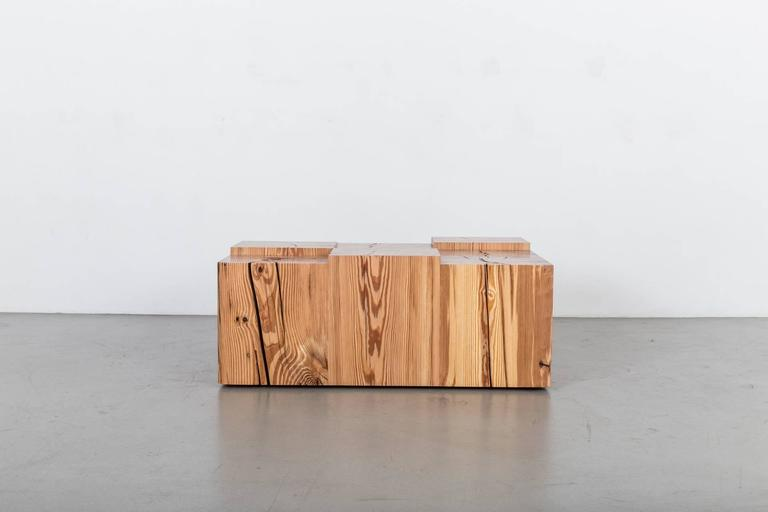 Pine Coffee Cube Table by Uhuru Design 2