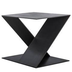 Tack End Table D by Uhuru Design in Hand-blackened Steel