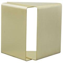 Fold End Table XL by Uhuru Design in Brass