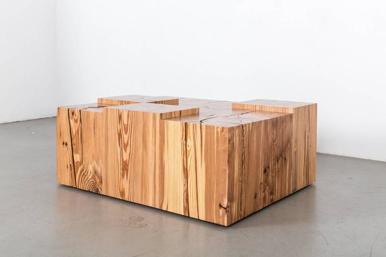 Pine Coffee Cube Table by Uhuru Design 4
