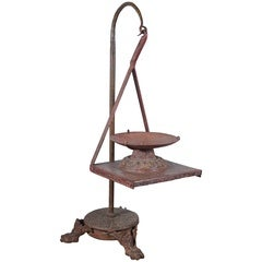 Early 20th Century Iron Candle Stand
