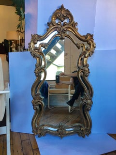 Pair of Rococo Style Gilt Wall Mirrors