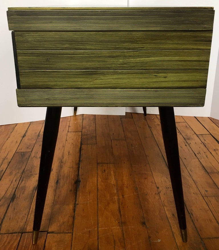 Brass Mid-Century Modern Ico Parisi Style Desk and Bookcase Set For Sale