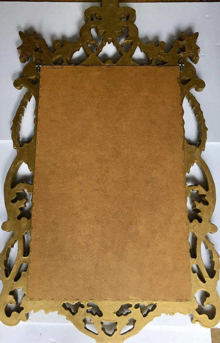 Italian Rococo Giltwood Style Draped Wall Mirror For Sale