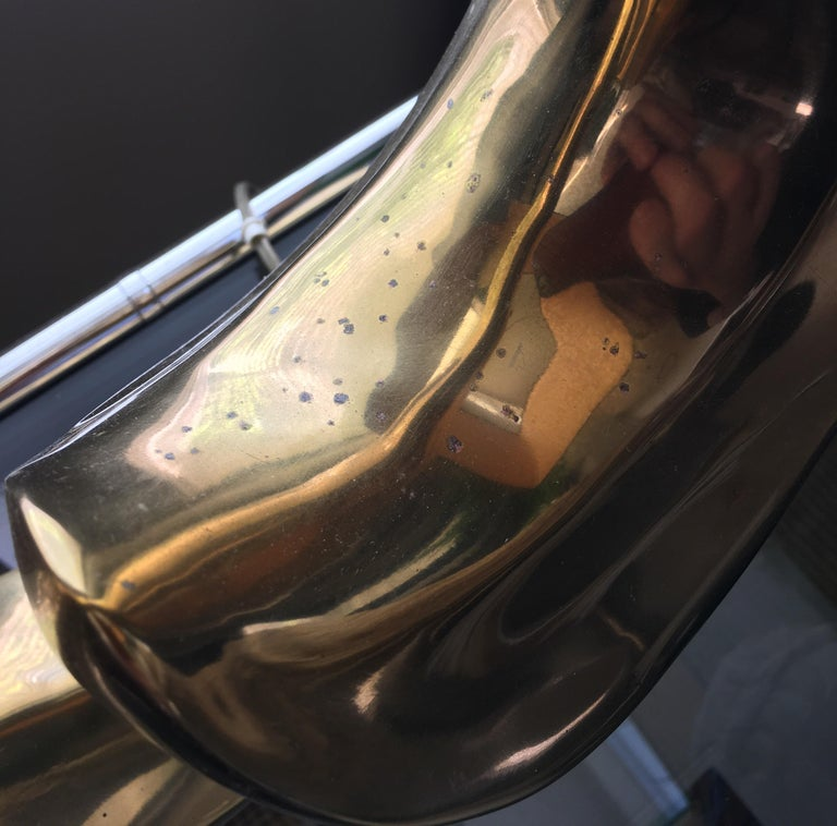 Mid-Century Modern Sculptural Brass Table Lamps, Pair 3