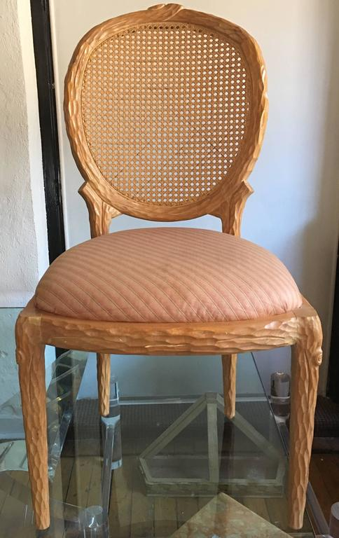 Mid Century Modern Faux Bois Dining Chairs By Weiman 2