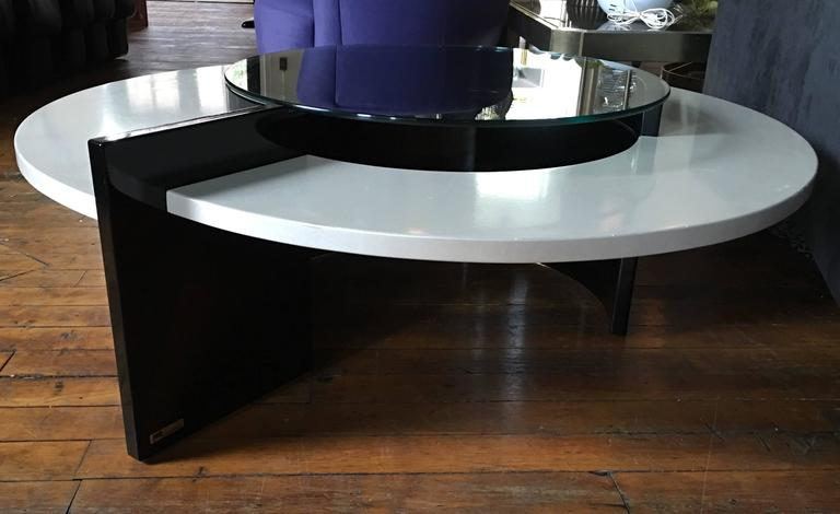 Modern round cocktail table by rougier for sale at 1stdibs for Cocktail tables for sale in kzn