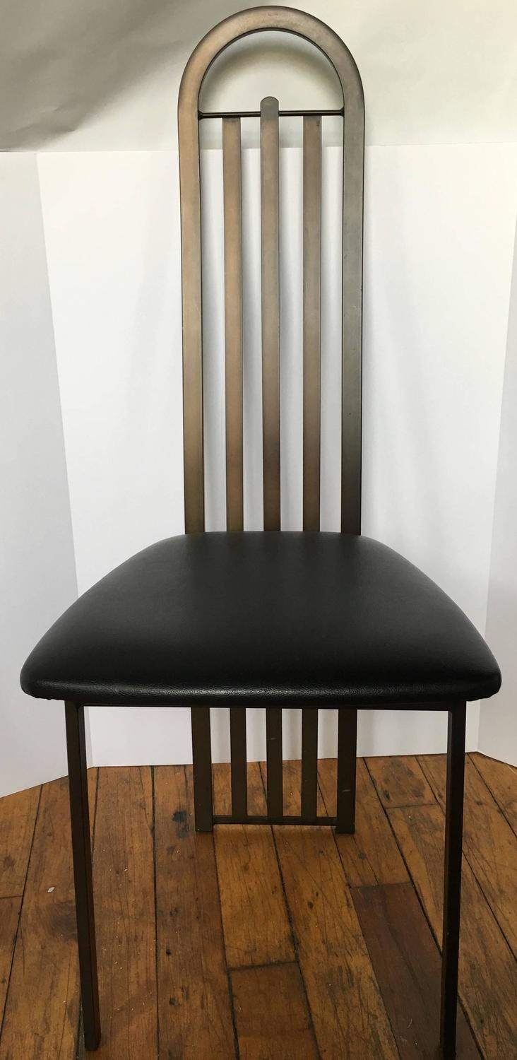 modern bronze metal dining chairs canada for sale at 1stdibs