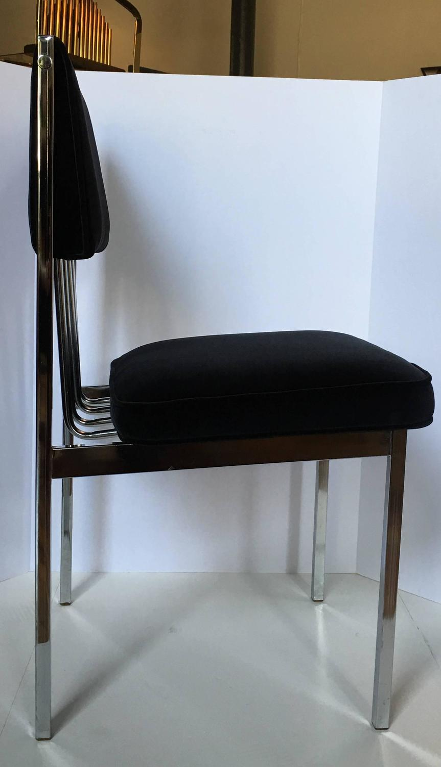 mid century modern chrome dining chairs for sale at 1stdibs