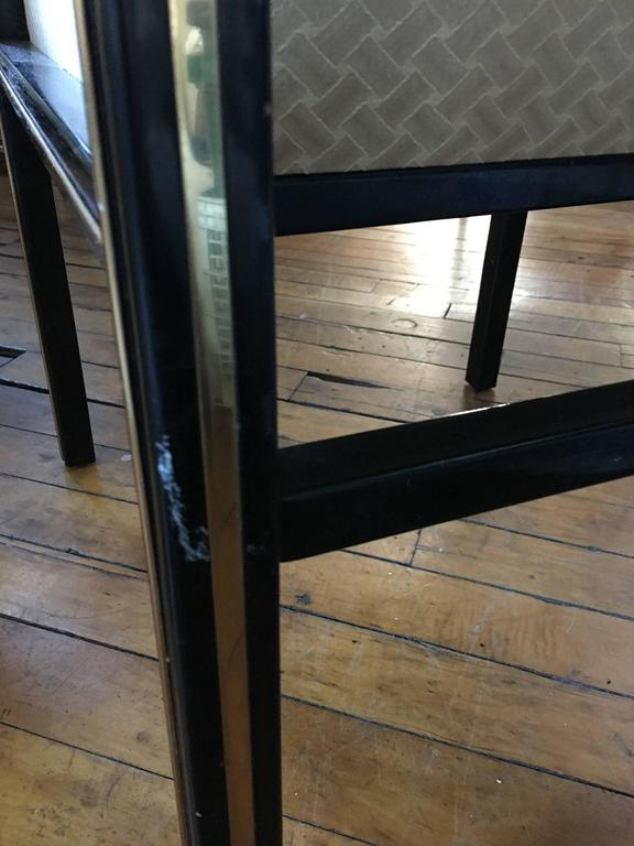 1970's Mastercraft Dining Chairs, Black and Brass, Set of Six For Sale 5