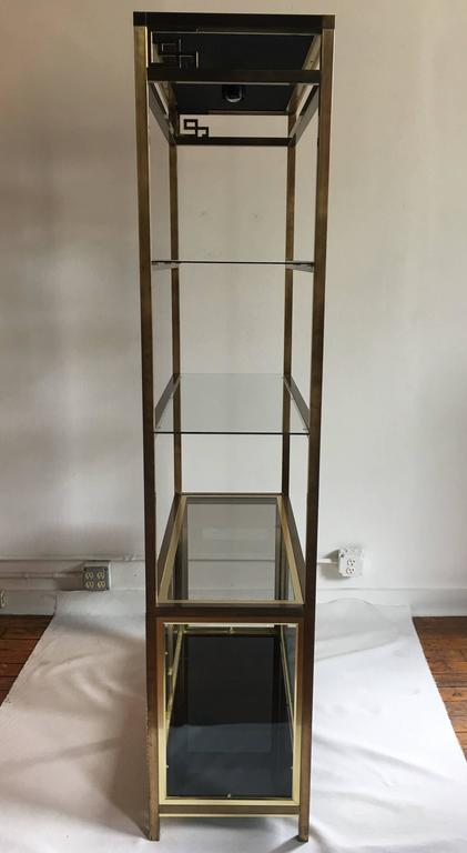 wooden front doors brass key lighted etagere cabinet at 1stdibs 11492