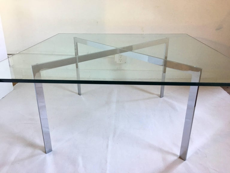 Mies Van Der Rohe Barcelona Style Coffee Table 1970s For Sale At 1stdibs