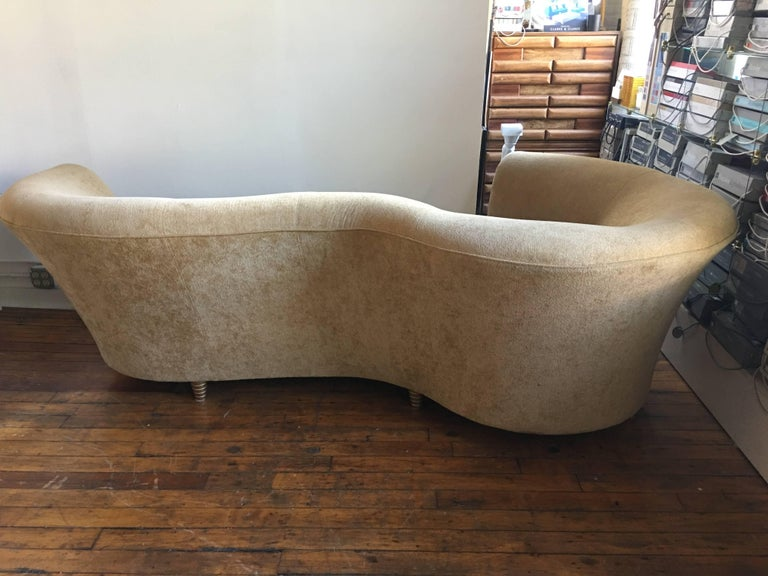 Thayer Coggin Curved Serpentine Sofa In The Style Of