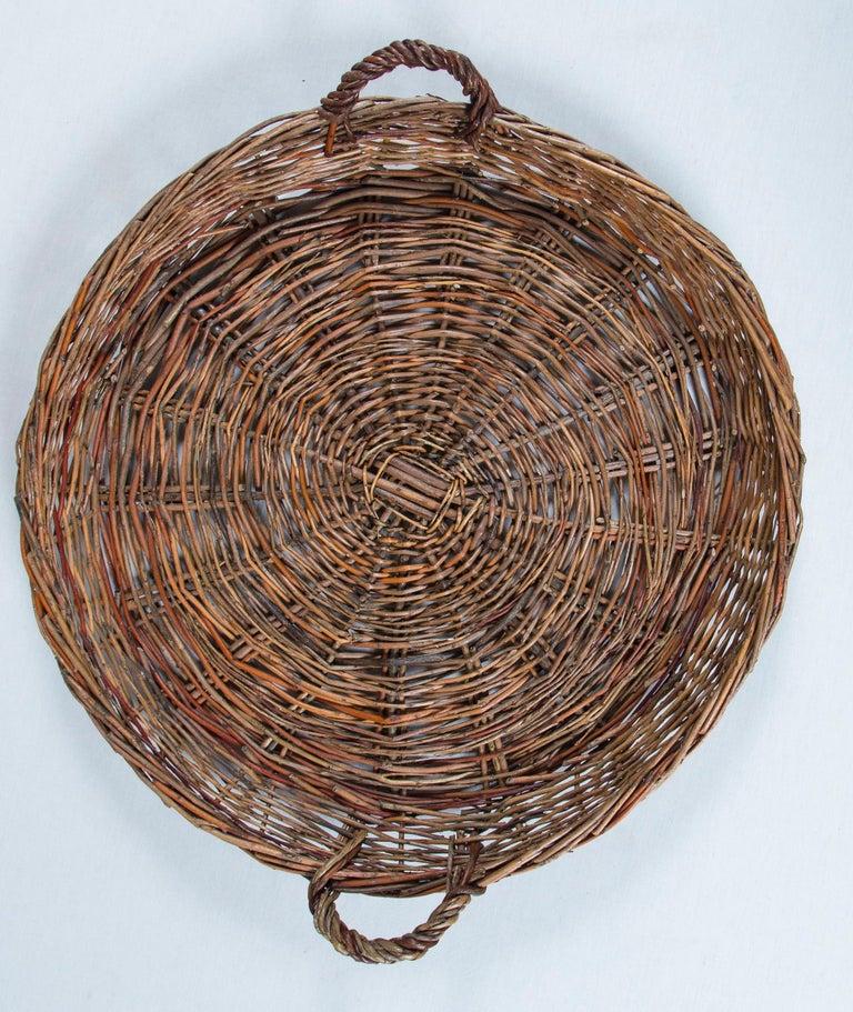 Vintage Wicker Grape Basket, France, circa 1950 For Sale 1