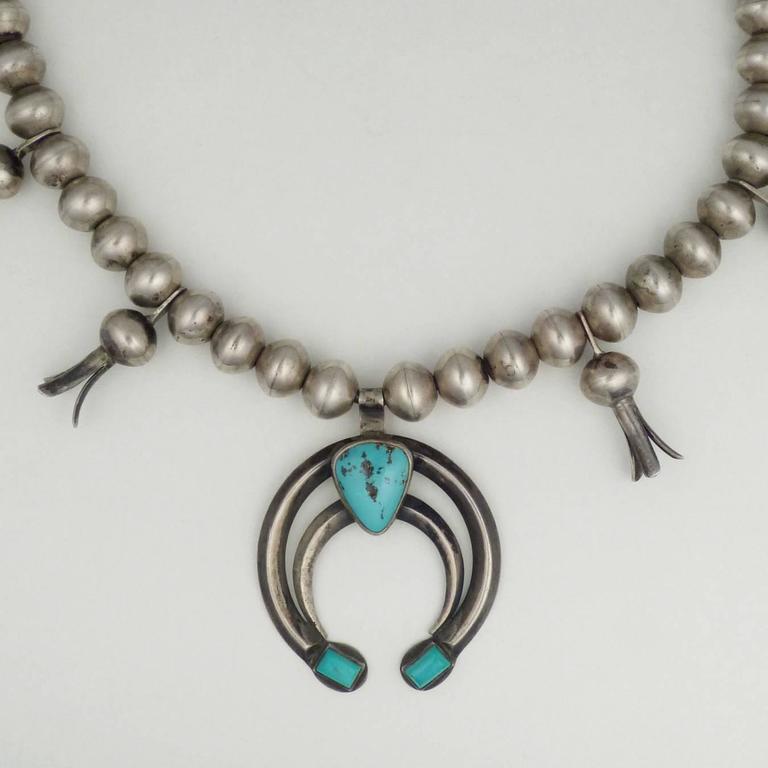 Vintage Navajo Squash Blossom Necklace Circa 1930s At 1stdibs