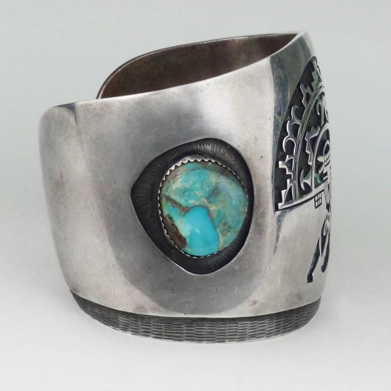 Vintage Hopi Cuff By Jerry Honwytewa Circa 1970 At 1stdibs