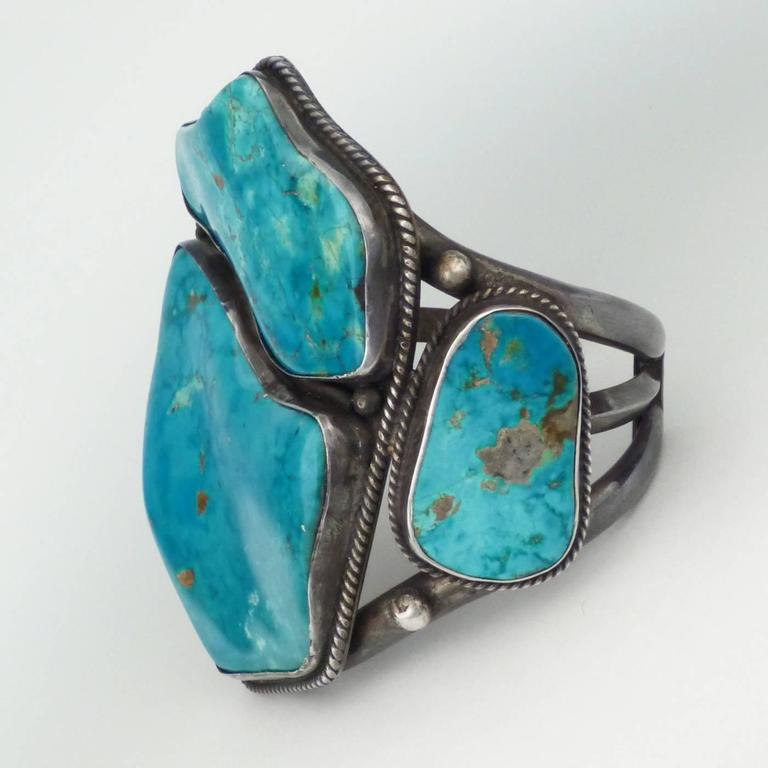 Mark Chee Turquoise Cuff Circa 1950 At 1stdibs